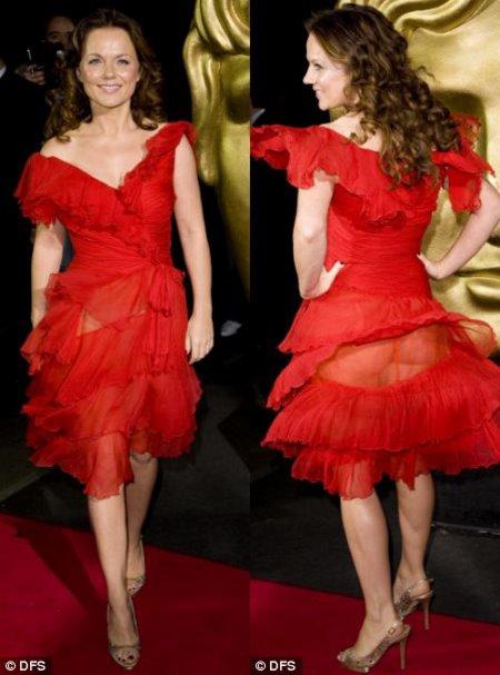 Geri Halliwell muestra sus encantos en los Children's BAFTA