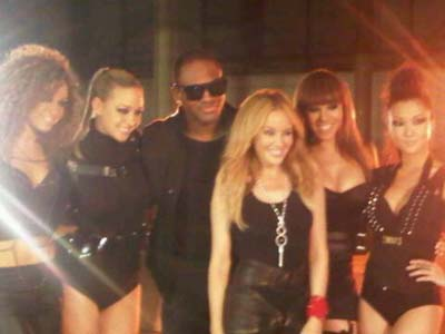 Taio Cruz y Kylie Minogue