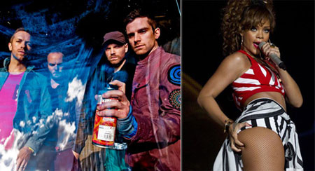 Coldplay y Rihanna