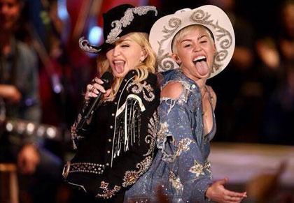 Miley Cyrus y Madonna