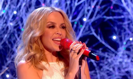 Actuación de Kylie Minogue