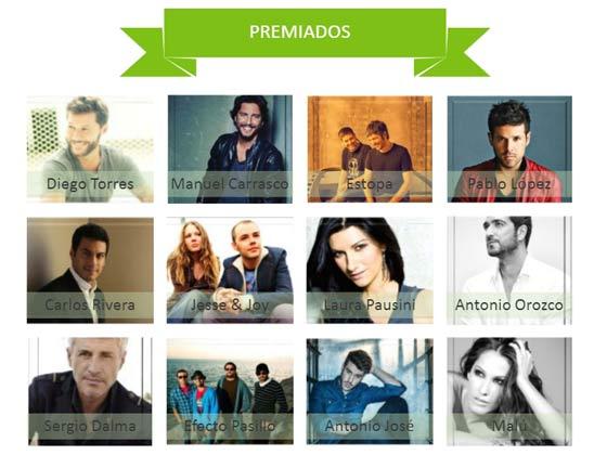 Ganadores Premios Cadena Dial 2015