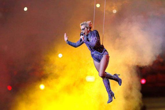 Actuación de Lady Gaga