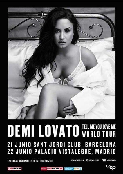 Demi Lovato actuará en Madrid y Barcelona