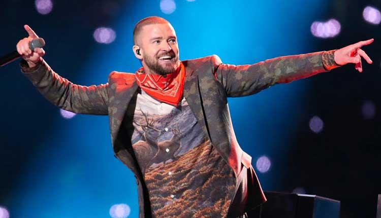 Justin Timberlake en el intermedio de la Super Bowl