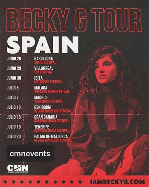 Becky G Tour