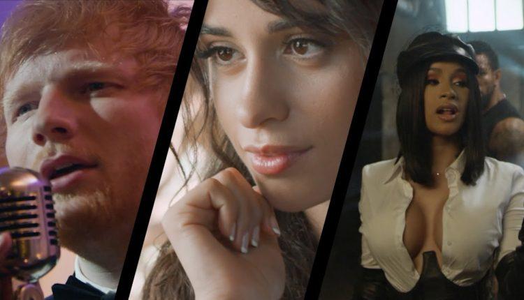 Ed Sheeran, Camila Cabello y Cardi B